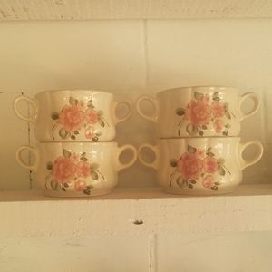 Gibson Rose soup bowls... Set of 4